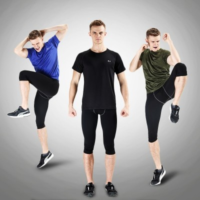Outdoor speed drying T-shirt, men's size, short sleeve, neck sport, loose fit, speed dry clothes, women's night running