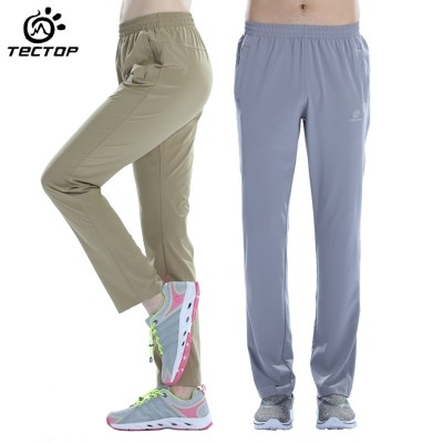 TECTOP/ explore outdoor sports, breathable sweat, quick drying pants, men's thin, summer long pants, female sun pants, mountain pants