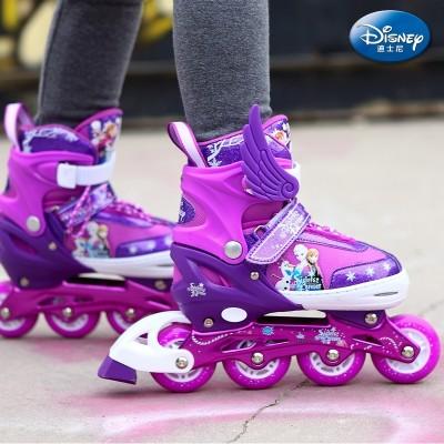 Disney skates, children's full set, 7 men and women, 5 roller skates, 4-9 roller skating, 10 skates, 3-6 year old beginner