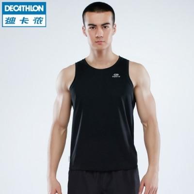 Decathlon sports vest male running fitness training speed dry air tight sleeveless vest KALENJI