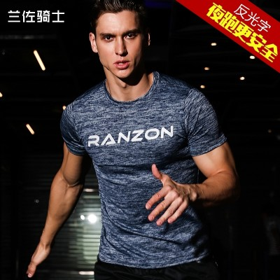 Sports short sleeve basketball shirt, loose muscle, elastic, tight fitting, quick drying exercise clothes, women running T-shirt, brother clothes man