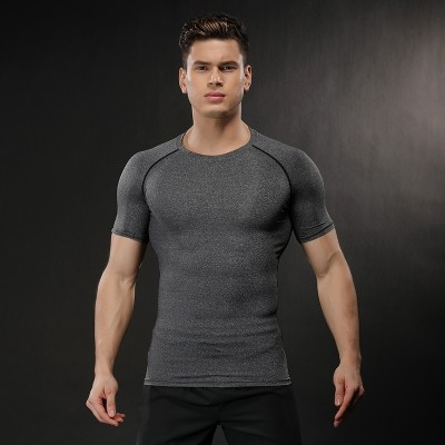 Sports tights, muscle fitness suits, men's speed drying, short sleeved T-shirts, summer basketball, brothers running, stretch training clothes