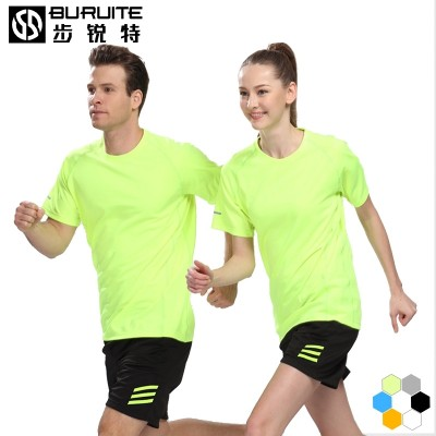 Sports suit, men's short sleeved summer run suit, speed dry shorts, casual two pieces of sports clothing, clothing