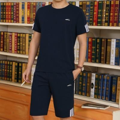 Sports suit, men's summer shorts, suits, casual wear, running clothes, sportswear, men's large sportswear