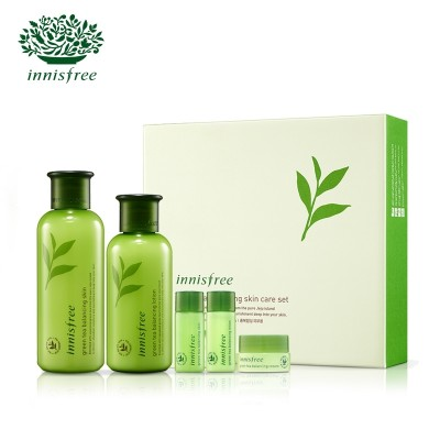 Innisfree skin care facial moisturizing emulsion Green Tea suit oil skin care cosmetics for men and women