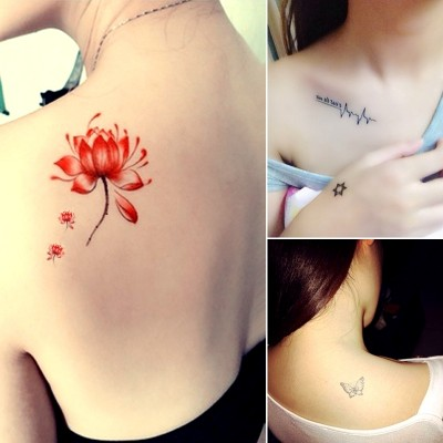 Other shore flower tattoo affixed to waterproof men and women, persistent Korean national flower arm simulation tattoos, cute little fresh geisha tattoo stickers