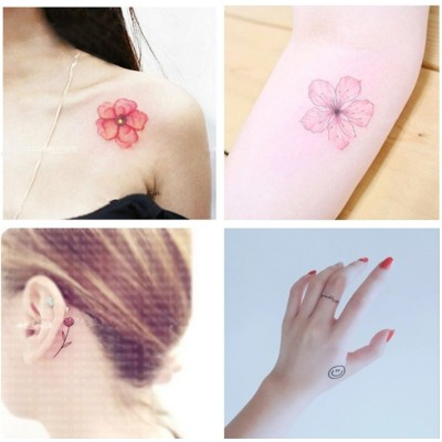 Bi Yang tattoo affixed waterproof female lasting simulation, South Korea flowers lovely, ankle, clavicle, leg stickers 50