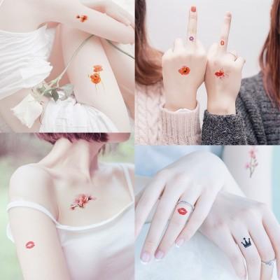 [30] tattoo stickers, waterproof sexy men and women, small fresh tattoo stickers, simulation persistent flower arm tattoo stickers