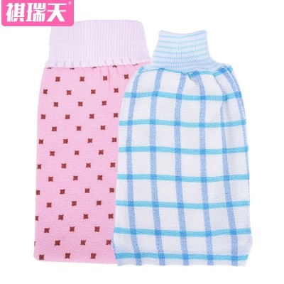 Qi Rui days rubbing rubbing towel artifact strong decontamination adult bathing towel back rubbing towel thickened double gloves