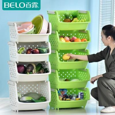 One hundred large fruits and vegetables thickened lotion kitchen shelf storage rack floor storage rack kitchen dish rack