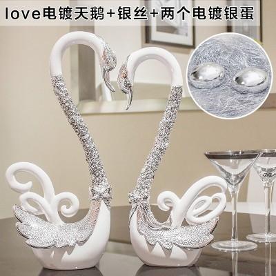 Creative wedding gifts wedding decoration new practical bestie wine room decor Home Furnishing Swan craft gift