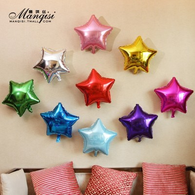 Light aluminum foil balloons birthday star Balloon Festival opened with the layout of the wedding anniversary