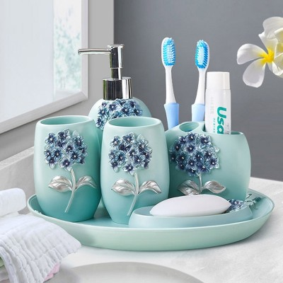 European style bathroom, five sets bathroom wash kit, toothbrush cup, lovers tooth brush cup, mouthwash cup, set home