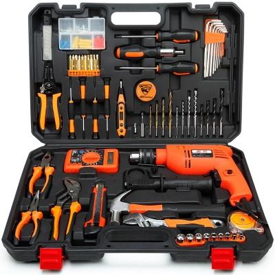 Min cheetah household tool kit hardware toolbox electrician woodwork German maintenance tool group repair combination