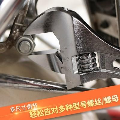 Multi-functional steel handle 12 inch adjustable wrench, 10 inch adjustable spanner wrench, 8 inch 15 inch wide open wrench