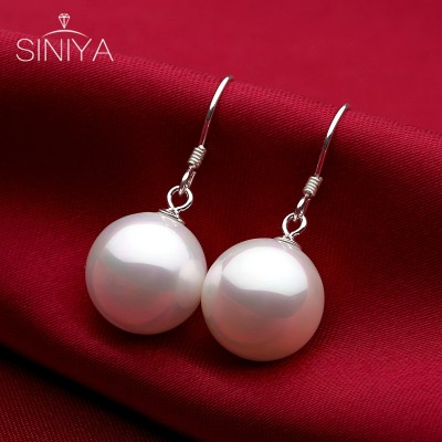 Xin li ya 925 tremella nail temperament pearl earrings eardrop Korea contracted fashion joker allergy free silver ornaments