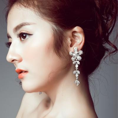 The bride clip earrings no long Korean Wedding Jewelry Earrings Pierced Earrings