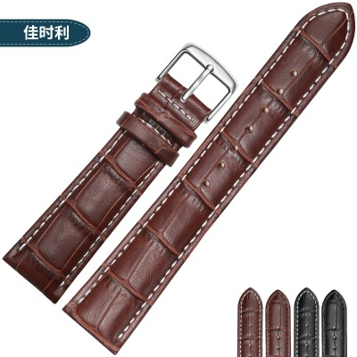 Leather watch band male LEATHER BRACELET LADIES pin buckle alternative CASIO DW Tissot Longines King Mido Seiko