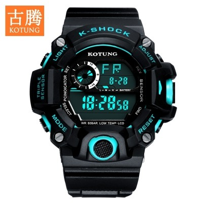 Watch male students waterproof youngsters are electronic watch running tide male table LED outdoor multifunctional men's table