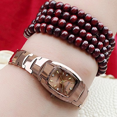 Ms BENSLY/guest waterproof force when the tungsten steel watch female table diamond watch retro watch female students