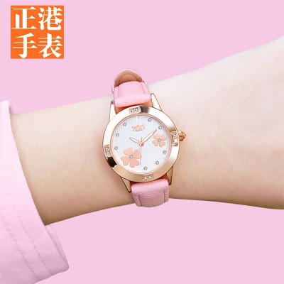 Middle school students watch female girl han edition children girls lovely girl pupils waterproof girls noctilucent contracted style