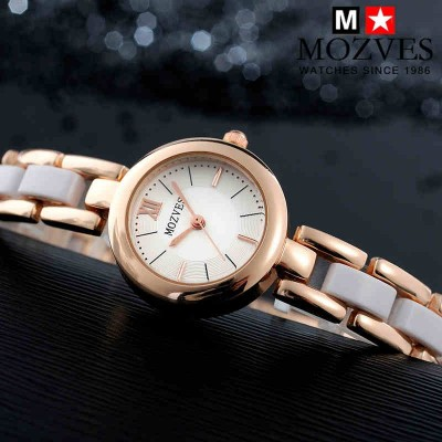 Ms han edition aestheticism fashion watches retro bracelet watch girls ceramic white women watch waterproof quartz watch