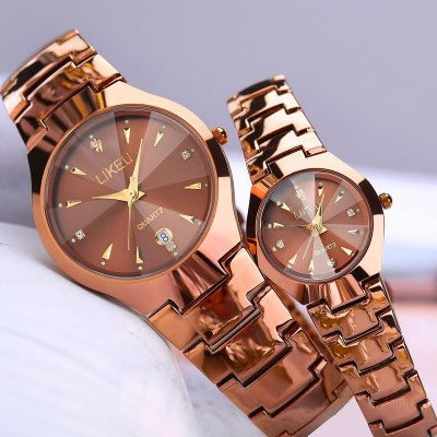 South Korea rose gold watch female students han edition fashion tide restoring ancient ways couple watches a contracted; male and female table expression