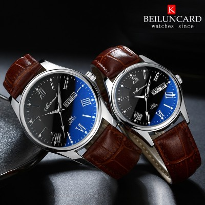 Electronic card belem men watch straps waterproof women watch students face much quartz watch; male and female table