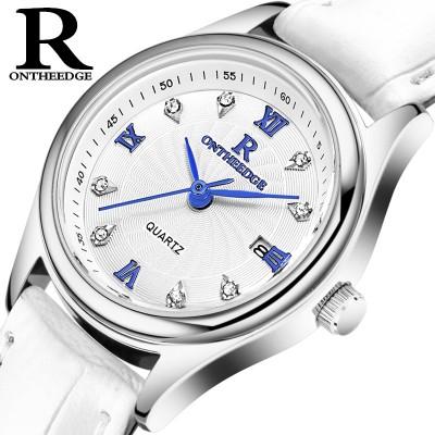 Ultra-thin waterproof commercial strap quartz ladies watch male watch lovers male women's men's watch