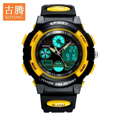 Guttenberg students watch the boy boy noctilucent water-resistant large child child motion of primary and middle school students electronic watch children