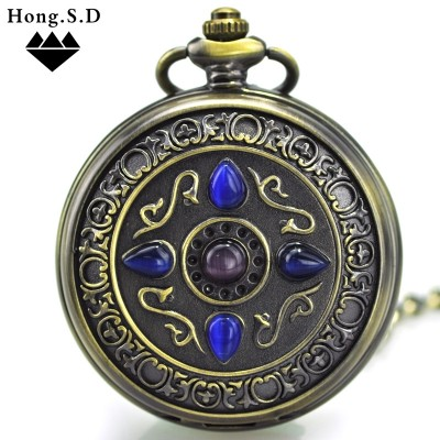 The cat's eye lucky stone automatic mechanical watch movement classic men's and women's flip flip students carve patterns or designs on woodwork restoring ancient ways