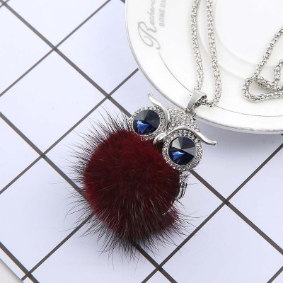 Deserve to act the role of autumn and winter clothes sweater sweater chain hair bulb necklace pendant atmospheric female south Korean joker sweater chain long