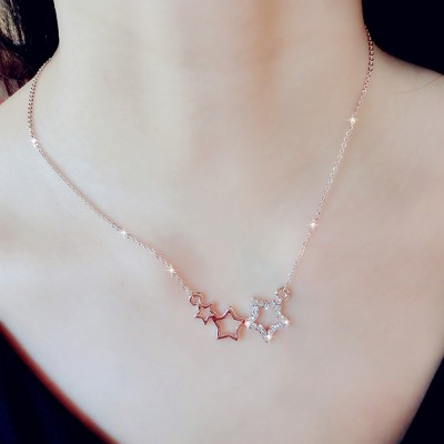 Vanity South Korea han edition small pure and fresh and elegant flower sweet pearl paragraphs short necklace joker accessories