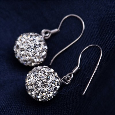 Xin li jas s925 silver earrings eardrop female Tremella nail length fashion popular Korean allergy