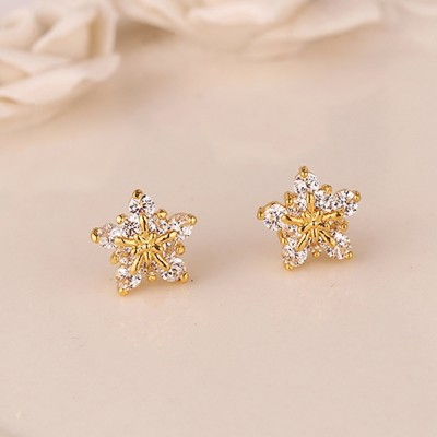 Contracted earrings earrings 925 tremella nail female temperament of South Korea Personality fashion earpins small adorn article no ear pierced ear clip