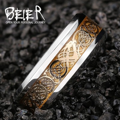 BEIER der ring des nibelungen domineering ring Men's titanium steel, Japan and South Korea single jewelry fashion personality male ring
