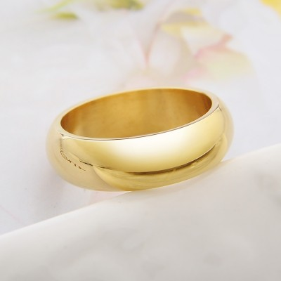 Valentine's day gifts The golden ring personality domineering Korean men's titanium steel ring accessories