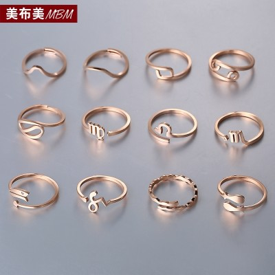 South Korea to guard the zodiac 18 k rose gold plated titanium steel couples ring finger hipster men and women act the role ofing is tasted