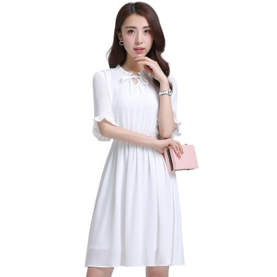 Song rabbit chiffon dress women summer 2017 new thin Korean students in small fresh floral skirt dress