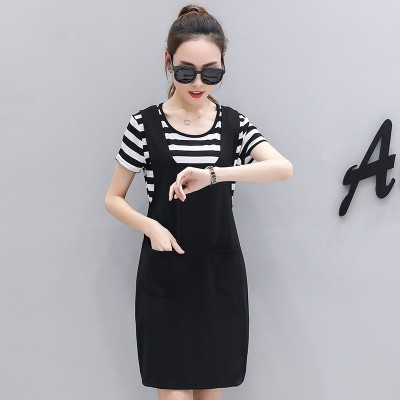 In the long skirt with shoulder straps two piece 2017 summer new dress dress skirt female summer dress set.