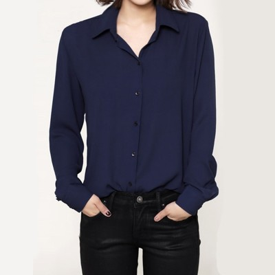 Xuan Teng 2017 summer new Korean Dress Chiffon shirt coat big loose long sleeved Casual Shirts summer code