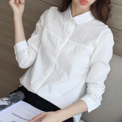 2017 new spring white shirt sleeved loose cotton all-match Korean female student Korean fan short sleeved summer shirt inch