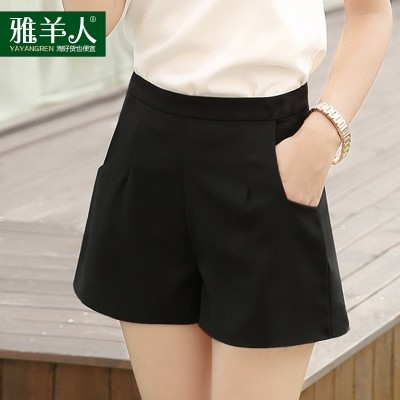 Summer Shorts lady Chiffon Korean loose 2017 new a thin thin waist wide leg pants casual