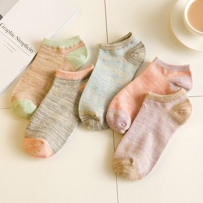 Summer children socks socks pure cotton socks socks Korea thin low shallow mouth of the Invisible Woman short tube socks lovely school socks