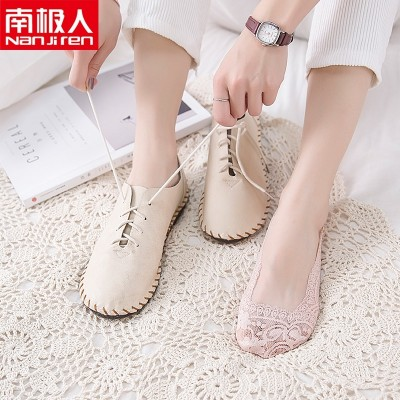 Spring and summer boat socks, women's lace thin socks, children's socks shallow, low hand, silicone anti slip female socks, cotton socks invisible