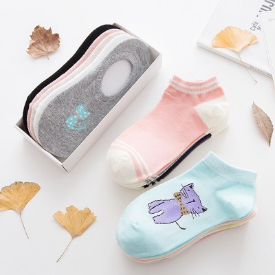 Socks, women socks, socks, boats, socks, women's shallow, lovely cotton, Korean summer ultra-thin, invisible low, silicone slip