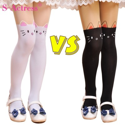 Spring and summer, thin baby stockings, student stockings, tights stitching, girls bottoming tights, children's socks, children's socks