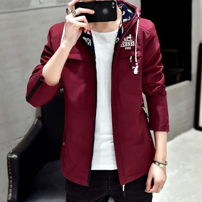 In the spring of 2017 new Korean man coat, sunscreen clothing jacket spring boys thin coat jacket tide