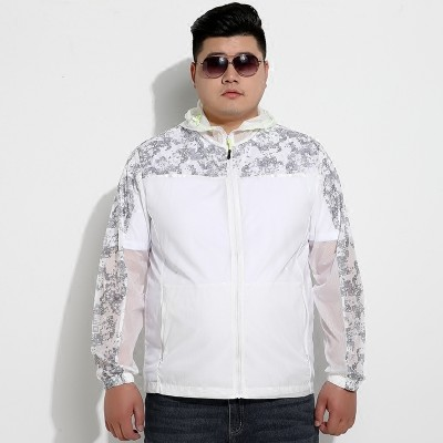 Outdoor light and thin, sun protective clothing, men's jacket, middle aged fatty, breathable coat, plus fat, XL, sun clothing, men