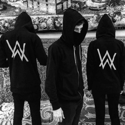 Alan Walker faded zipper cardigan sweater Alan Walker spring thin male DJ hoodie coat
